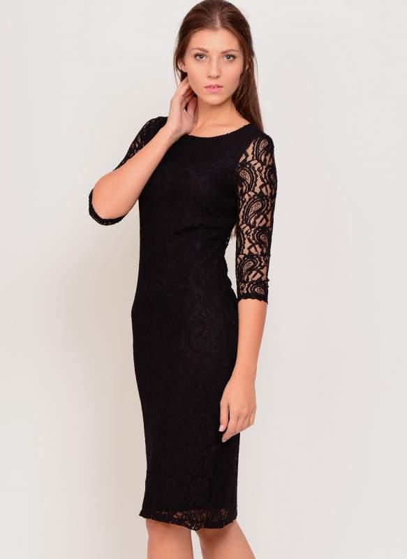 Siyah Koton Elbise Modelleri