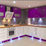 eflatun Renkli Mutfak Dolapları