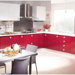 kırmızı beyaz Kelebek Mutfak Modelleri