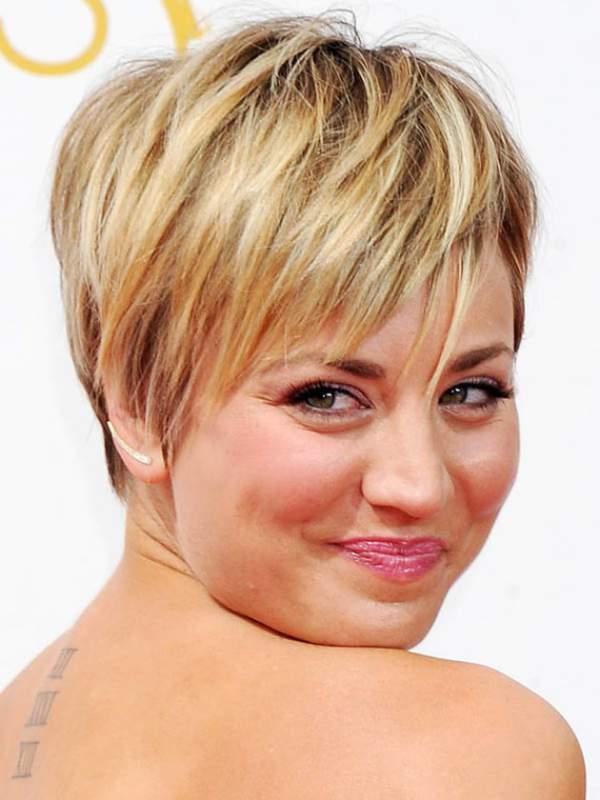 Короткие причёски для круглого лица
