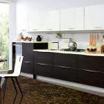 siyah beyaz Kelebek Mutfak Modelleri