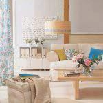Açık Renk Oturma Odası Dekorasyonu