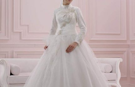 Tesettür prenses gelinlik modelleri 2017