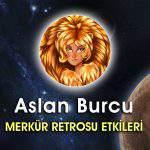 Aslan Burcu Merkür Retrosu 2016