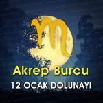 Akrep Burcu 12 Ocak Dolunayı