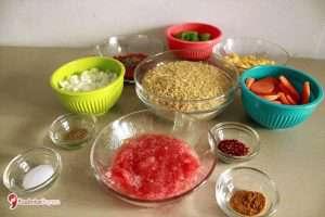 Sebzeli Bulgur Pilavı Malzemeleri