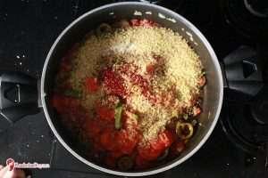 Sebzeli Bulgur Pilavının Yapılışı