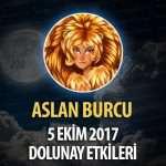 Aslan Burcu 5 Ekim 2017 Dolunay Etkileri