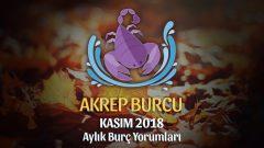 Akrep Burcu Kasım 2018 Yorumu