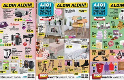 A101 7 Şubat Perşembe Kataloğu Yayında