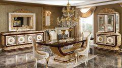Salonlara Uyumlu Klasik Yemek Odası Takımları