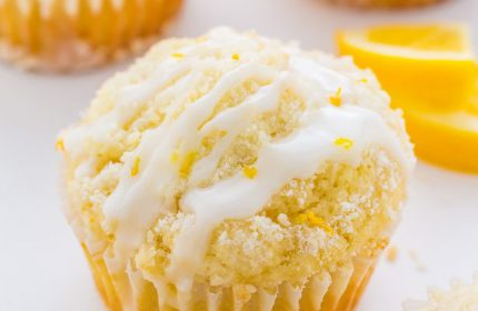 Limonlu Kırıntılı Muffin