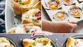 Yumurtalı ve Peynirli Cup Börek