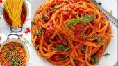 Domatesli Fesleğenli Spagetti