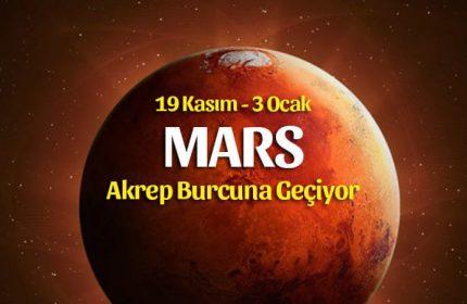 Mars Akrep Burcunda 19 Kasım 2019 – Burçlara Etkileri